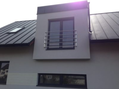 Balustrada balkonowa i okienna