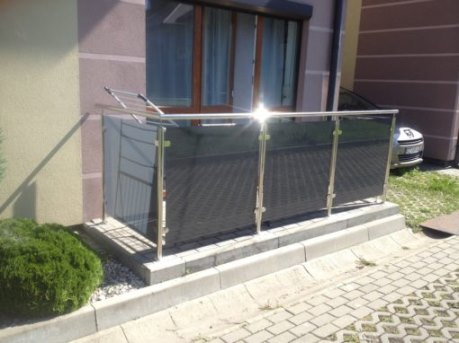 Balustrada tarasowa z furtką